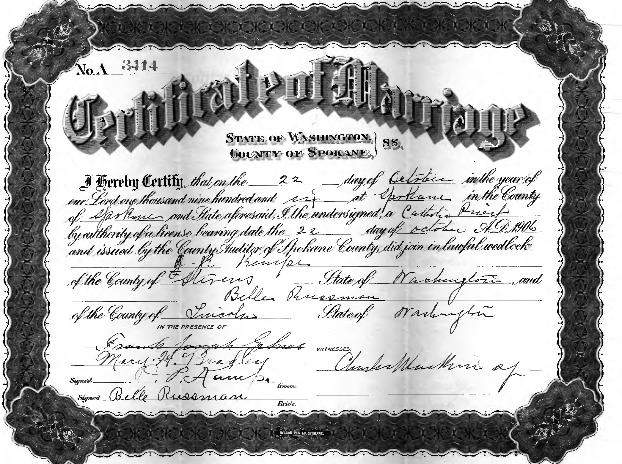 Kempe kamp rossman leopold family information isabelle was 27 housekeeping in lind lincoln co wa born in iowa to john and mary lepolo leopoldlippold russman the marriage certificate xflitez Choice Image